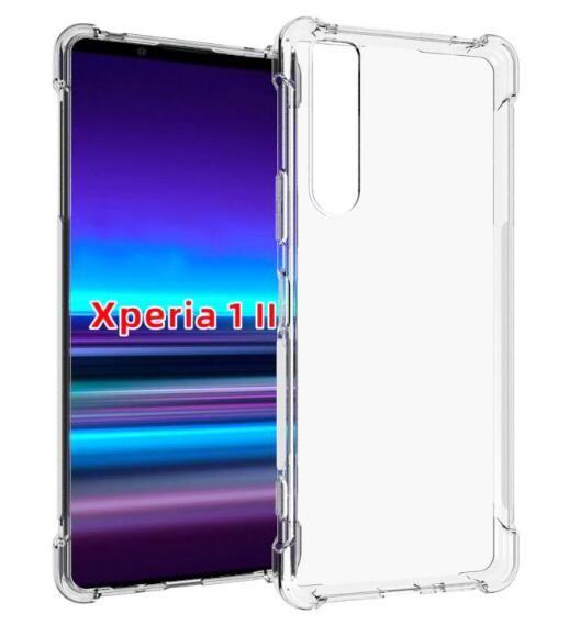 Casse del telefono trasparente per Sony Xperia L4 / Xperia 1 II / Xperia 10 II cassa molle del silicone di protezione del gel di TPU pelle chiara II Copertura 5 Xperia
