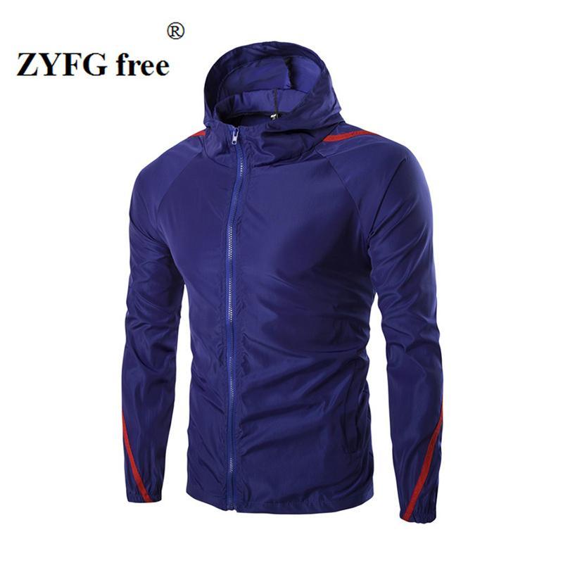 2017 printemps et en automne été nouvelle veste casual capuche antisolaires hommes de style hommes personnalité de la mode urbaine rayé manteau de veste