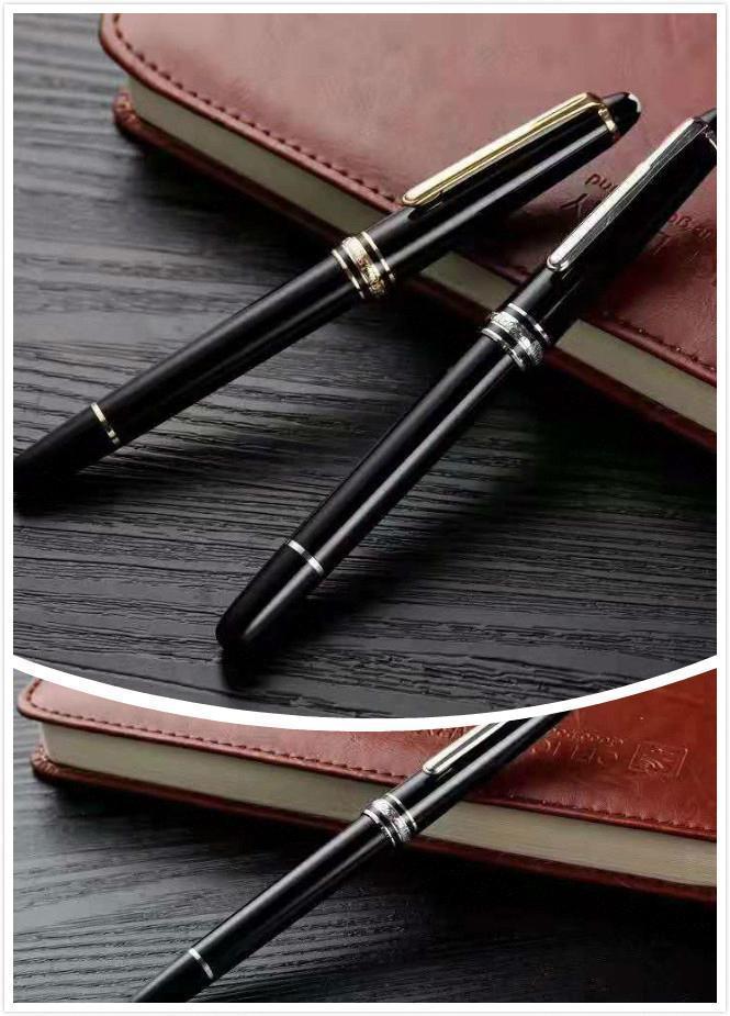 Alta qualità Meisterstok 163 in resina nera penne segreteria della scuola penna a sfera della cancelleria di lusso monte refill per le imprese regalo 015.230 #