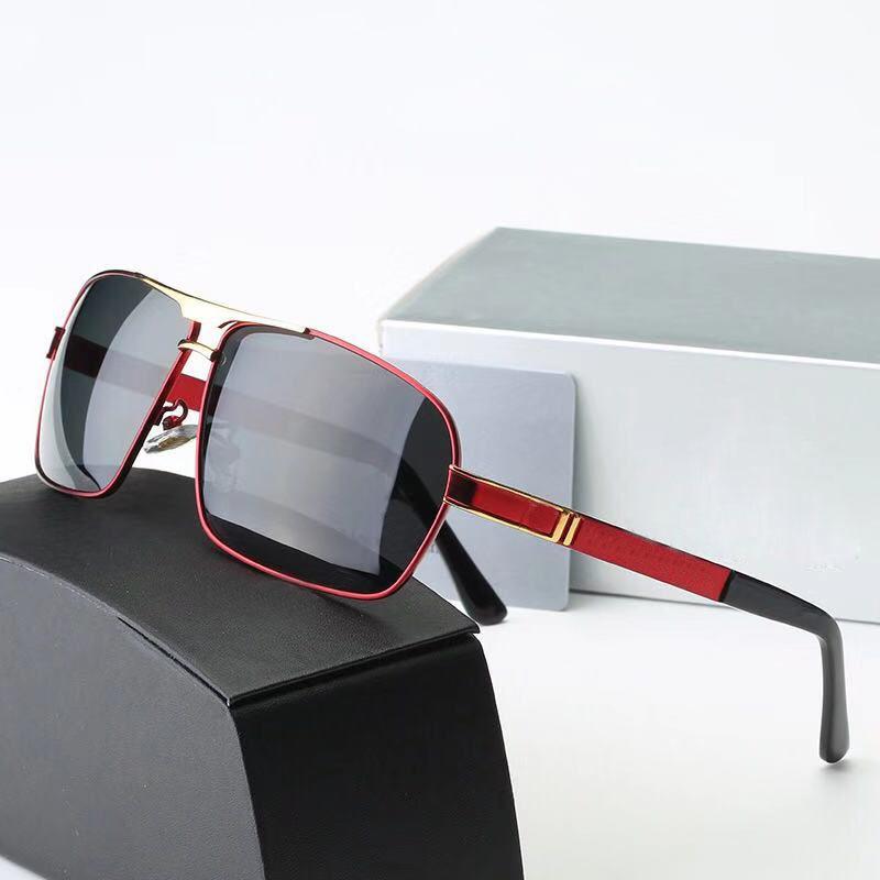 2020 Lunettes de soleil mode Marque -Femme Lunettes de soleil ovale Protection UV lentille miroir lentille demi Couleur de la monture en plaqué cadre viennent avec la boîte