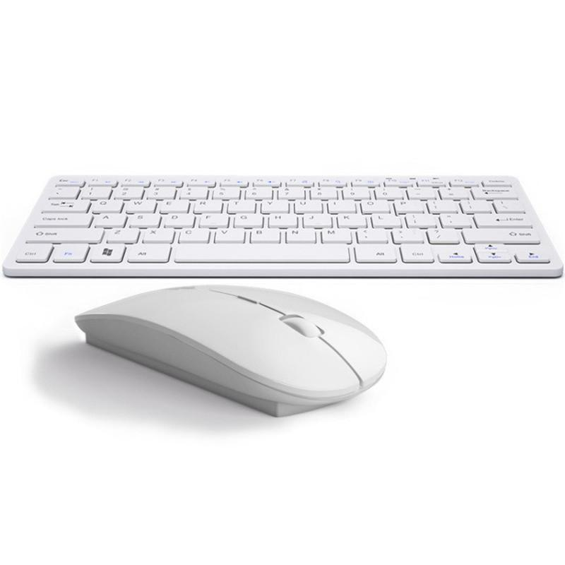 2.4G الترا سليم لوحة المفاتيح اللاسلكية ماوس كومبو ملحقات الكمبيوتر الجديدة لأبل ماك PC ويندوز إكس بي الروبوت التلفزيون مربع