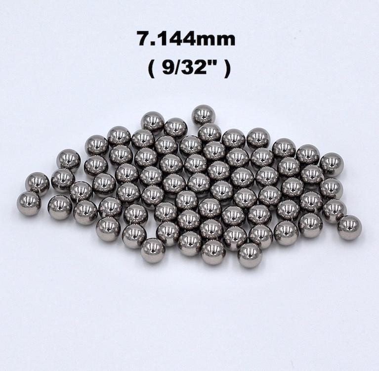 """9/32 """"(7.144mm) billes d'acier de roulement d'acier au chrome de chrome de précision de G16 AISI 52100 100Cr6 pour des composants des véhicules à moteur, incidences de précision"""