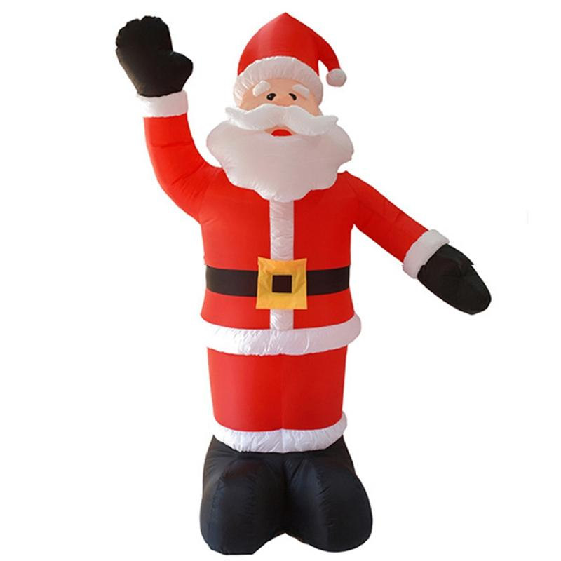 2.4M Giant Santa Claus LED Light Inflatable Toys Christmas Props Birthday Wedding Party Toys Lawn Yard Outdoor Decoration US Plu