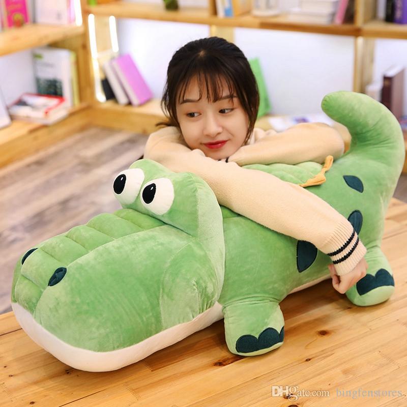 Cute Crocodile Doll Big alligator Plush Toy Cute Pillow Doll for Children Gift Decoration 33inch 85cm
