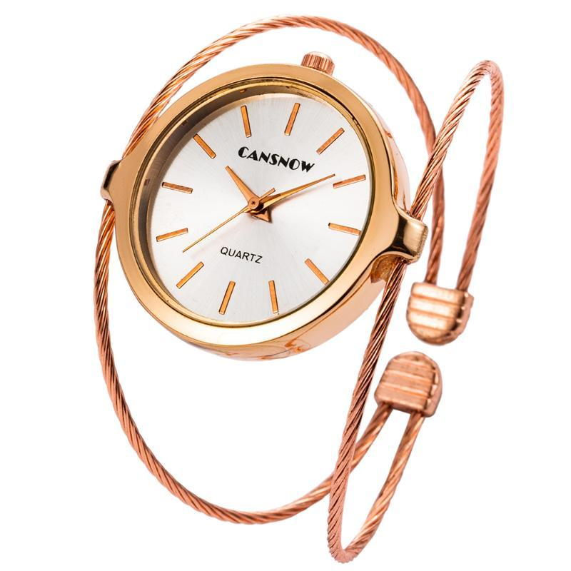 Orologi delle donne ultra-sottile del braccialetto di modo delle signore della vigilanza del quarzo Femminile Orologi regalo Nuovo trasporto di goccia Elegante