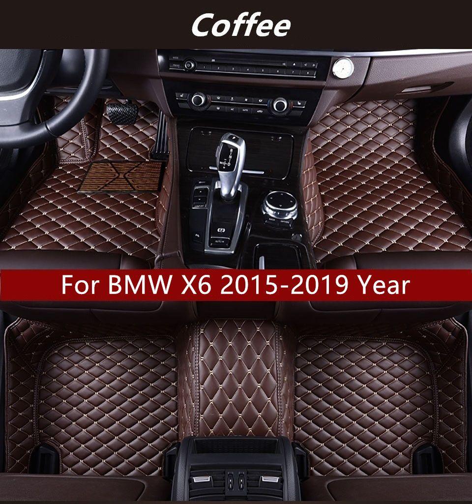 BMW X6 2015-2019 yılı Araç İç Ayak Mat Kaymaz Çevre Koruma Tatsız Toksik olmayan Kat Mat İçin