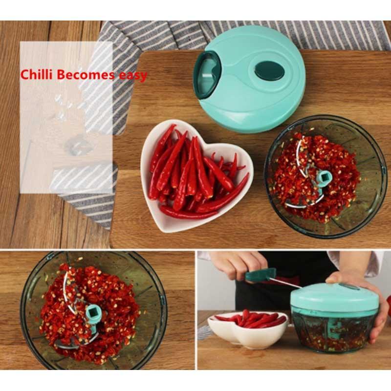 Manuale Mini Chopper Tritacarne affettatrice Pull String processore per le verdure insalata di frutta Cipolle LKS99