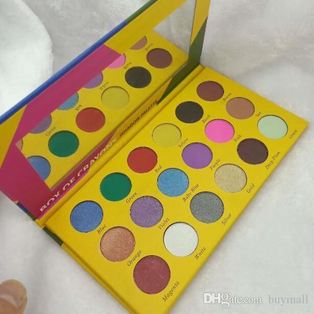 Box of Crayons iShadow Palette Cosmetics 18 colors Shimmer & Matte Eye shadow Palette DHL free
