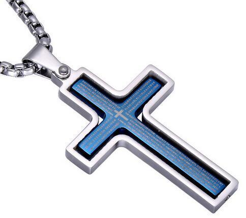 Boutique Mode Hommes Spinner Croix collier pendentif homme 4 couleurs bijoux en acier inoxydable Homme 24