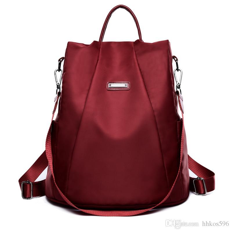Femme sac à dos anti-vol classique en cuir PU couleur solide sac à dos Canta mode sac à bandoulière noir