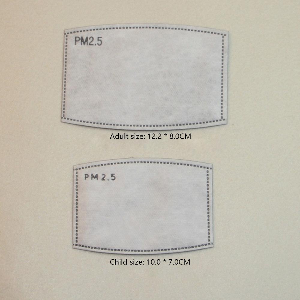 Masque Filtre PM2.5 Filteration Pads de remplacement pour adultes et enfants Respirateur Pads Anti-poussière Livraison rapide Disponible en stock
