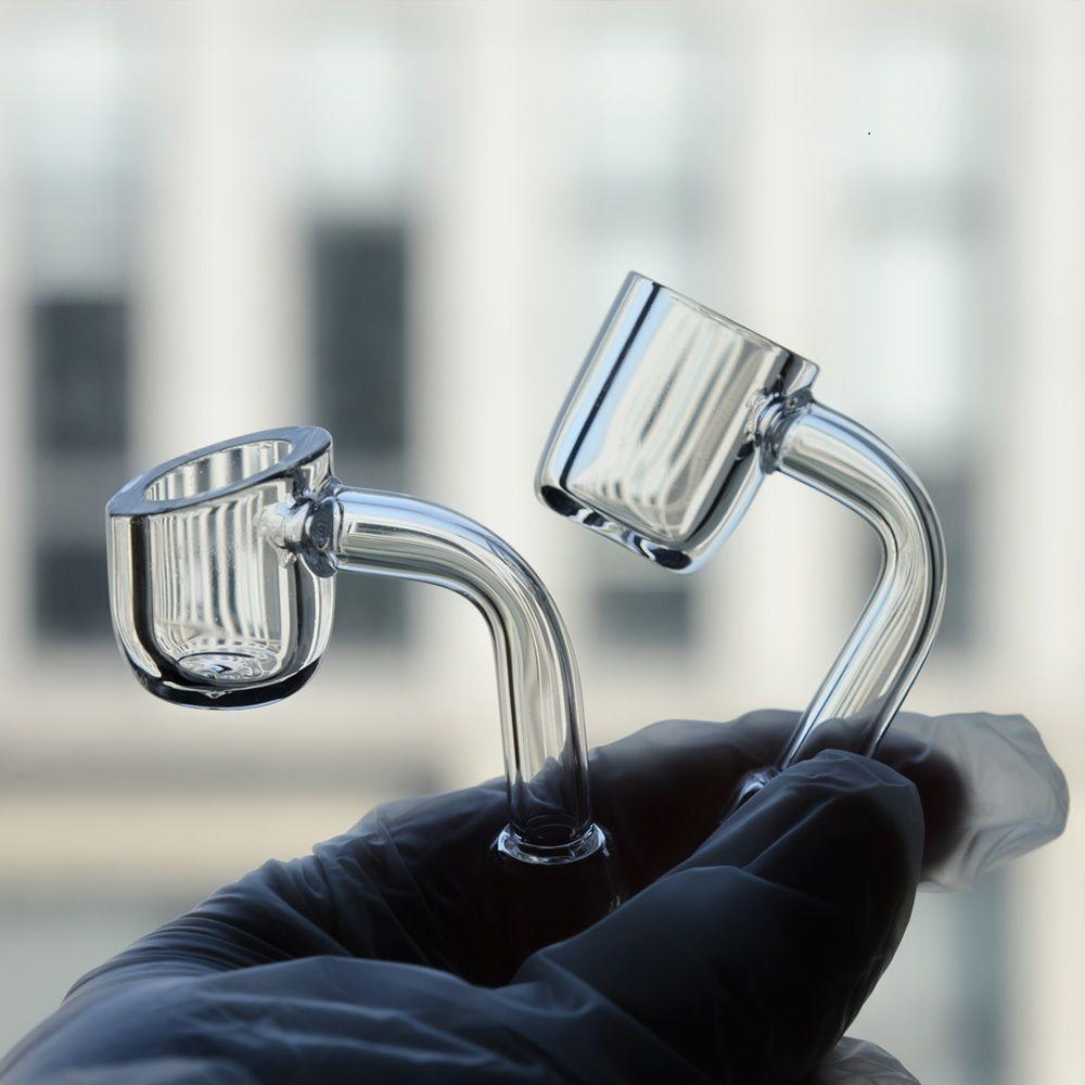 4 mm de espesor del club Banger Humo Domiel de Cuarzo Cuarzo 10 mm 14mm 18mm Hembra masculina 90/45 grados 100% Real para vidrio Bong Waterpipe