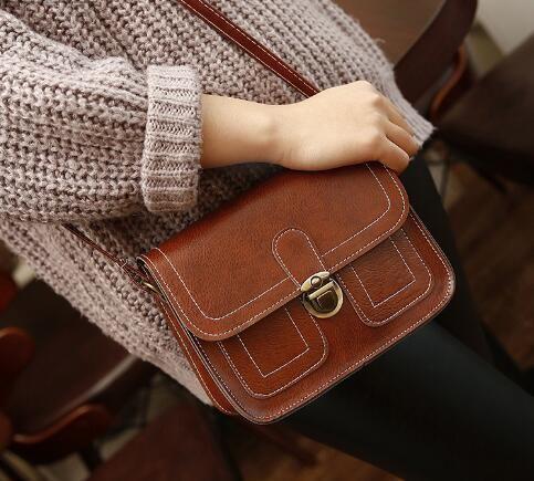 Nuevo bolso de línea para mujer Xiaofangbao de otoño e invierno Retro solo hombro bolso inclinado Bolsa móvil