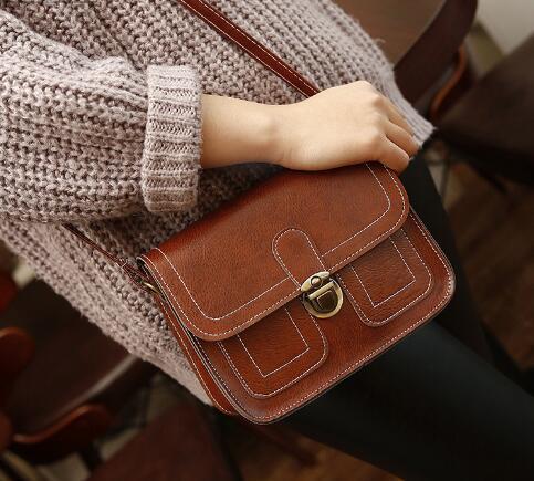 Nuova borsa autunno-inverno Xiaofangbao linea di donne retrò borsa singola borsa a tracolla inclinata