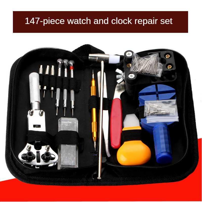 147Pcs İzle Araçları İzle Açıcı Temizleyici Bar Onarım gözetlemek Tornavida Saat Onarım Aracı Takımı Saatçi Araçları Parçaları
