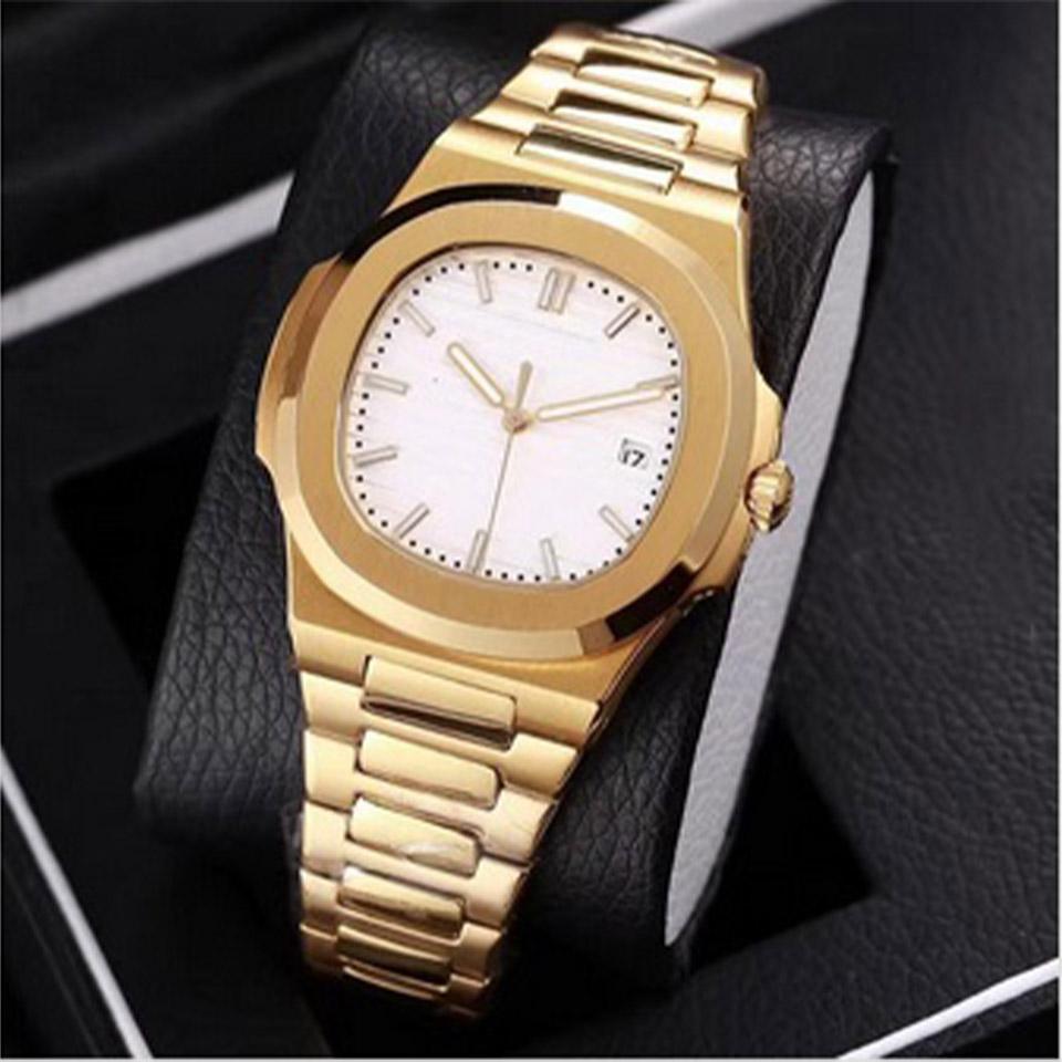 16 mens moda cor assistir 40 milímetros Nautilus movimento automático relógio 2813 relógios mecânicos do relógio em aço Natal presente Sapphire inoxidável
