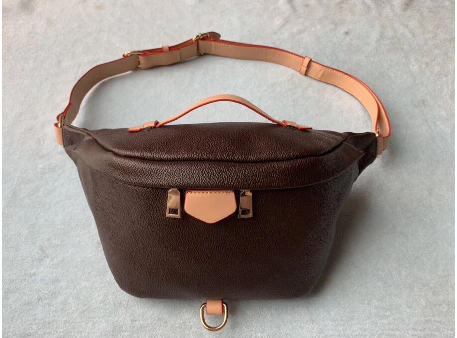 2020 Новые Stlye Известные Bumbag Креста тела моды мешок плеча коричневый Сумки на пояс Bum мужской талии сумки # M43644