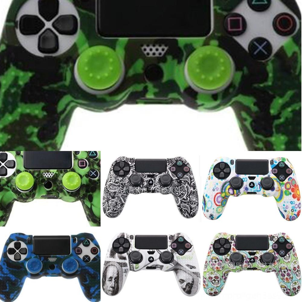 NCQ34 Housing Shell Case Cover Skin Protective Camo Upper Repair for Sony DualShock PS4 4 v1 Gen Controller 1th Green Camouflage