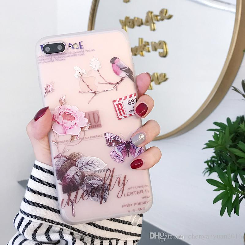 3D Floral Case For iPhone X XS MAX XR 7 8 Plus Silicone Girly Colors Luxury Cover