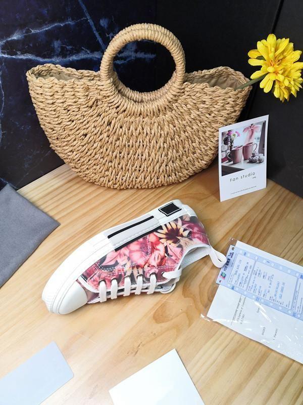 Las nuevas llegadas blanca oblicua B24 con la zapatilla de deporte para hombre de moda los zapatos del diseñador de lujo para mujer de las zapatillas de deporte L14