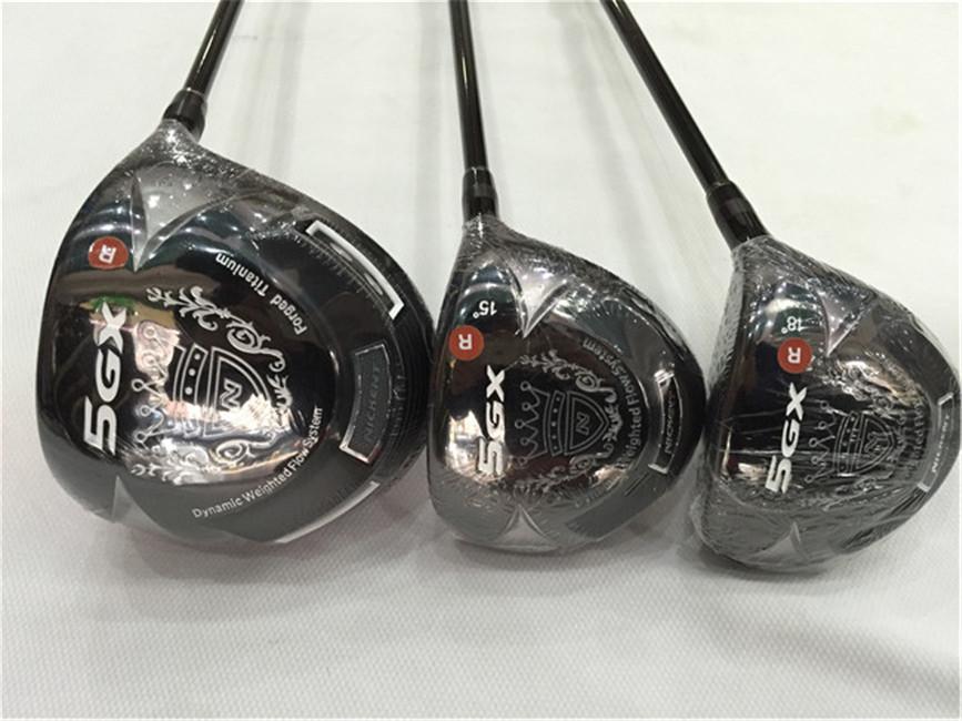 Nissent 5GX Holz Set Nickent 5Gx Golf Woods Nickent Golf Clubs Treiber + Fairway Woods Graphitwelle mit Kopfbedeckung