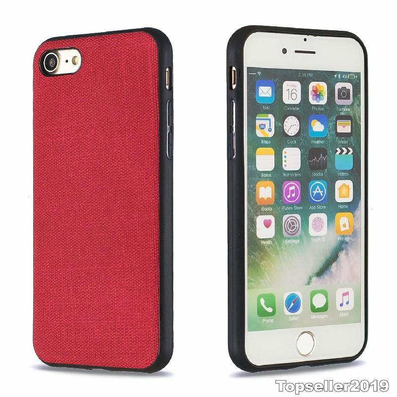 Pour IPHONE 7 IPHONE 8 Anti Shock Plaster Denim Texture TPU Téléphone cas couverture arrière Freeshipping de haute qualité en gros B114