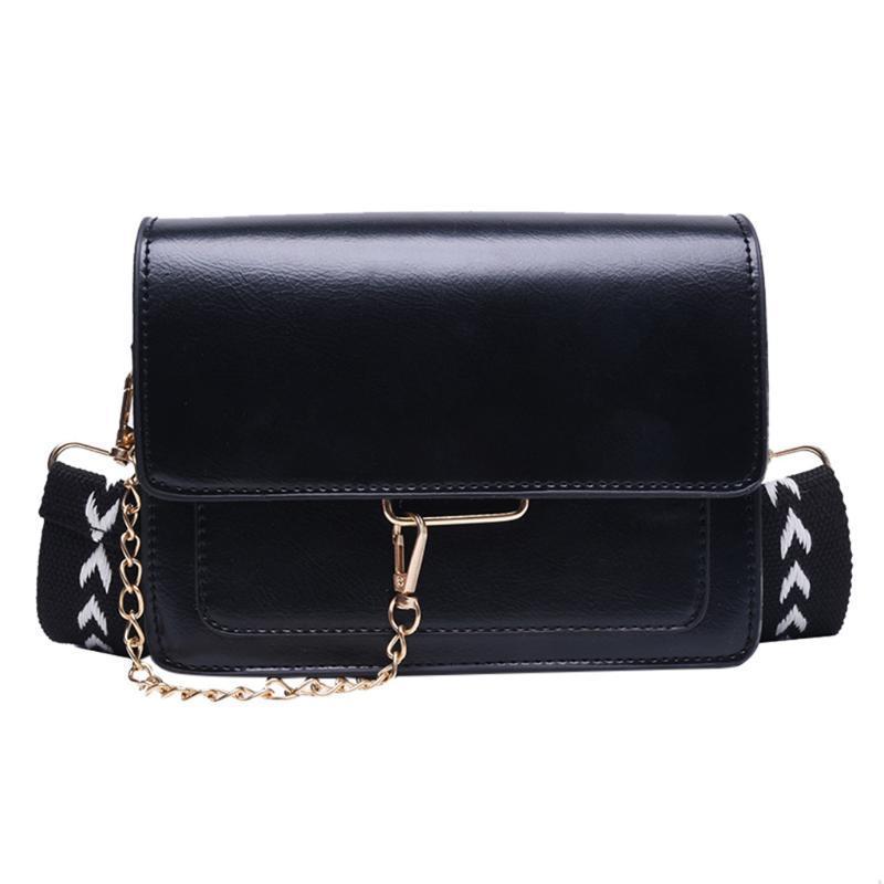 Busca pareja Partido Satchel PU de las señoras de cuero a paneles cadena del bolso de hombro del mensajero del bolso de Crossbody del saco Bolsas femme principal