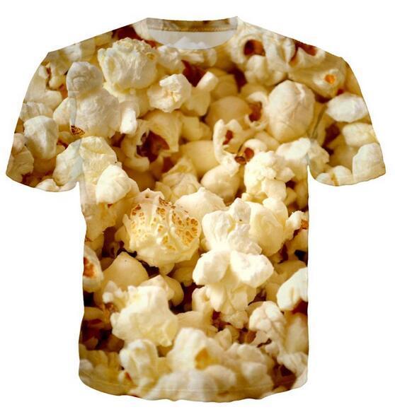Neueste Art und Weise der Männer / Womans Popcorn-Sommer-Art-T-Shirts 3D-lässig T-Shirt Tops Print Plus Size BB093