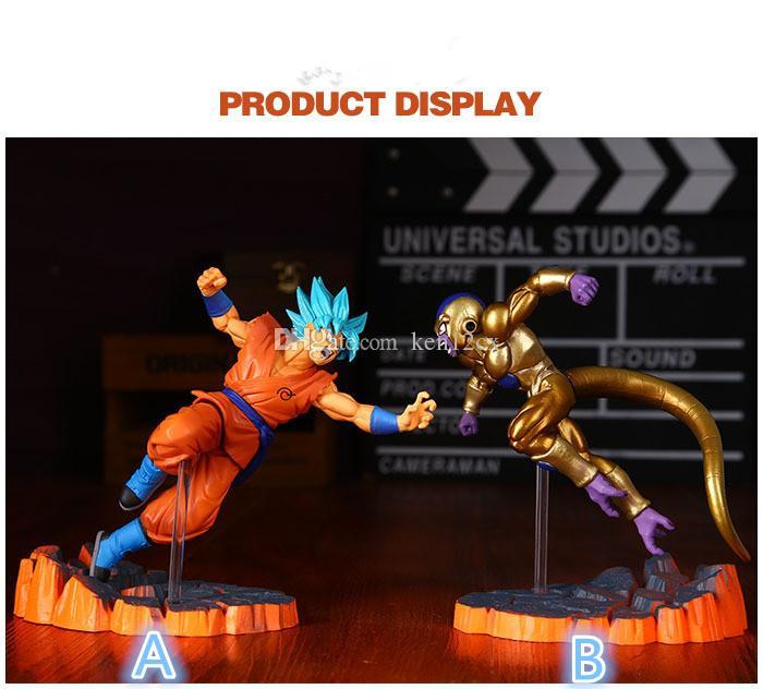 Compre Dragon Ball Z Filho Goku Vs Frieza Pvc Figura De Ação Dbz Super Saiyajin Goku Frieza Fronteira Modelo De Confronto De Brinquedo 15 Cm De