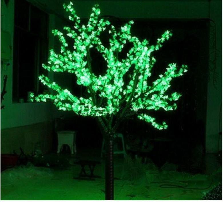 2M 6.5ft LED Cherry Blossom Tree Outdoor Indoor Christmas Wedding Garden Holiday Light Deco 1248LEDs waterproof 7 Colors option