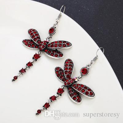 2020 heiße Verkauf modische Damen Persönlichkeit lange Ohrringe kreative Muster Libelle Insekt Ohrringe retro übertrieben Ohrringe