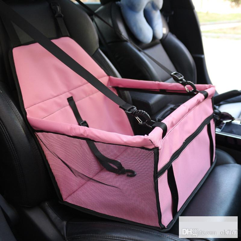 Waterproof Pet Carrier Car Seat Pad Safe Carry House Cat Puppy Bag Waterproof Car Travel Accessories Blanket Dog Basket Ordinary design