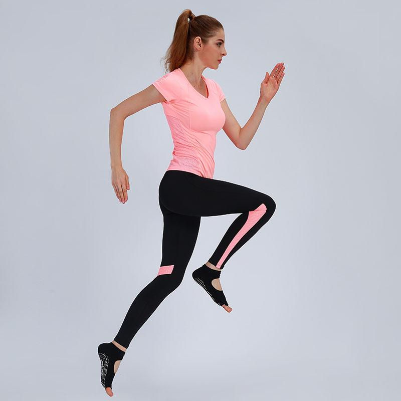 Trajes de yoga Mujeres Set Gym Fitness Ropa T Shirts + Pantalones Ejecutar medias Jogging Entrenamiento Leggings Sport Traje