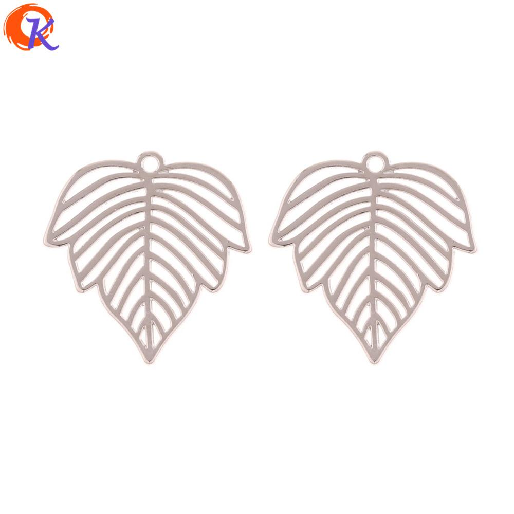 wholesale 100Pcs 28*28MM Jewelry Making/Earring Accessories/Leaf Shape/DIY Earring Connectors/Hand Made/Earring Findings