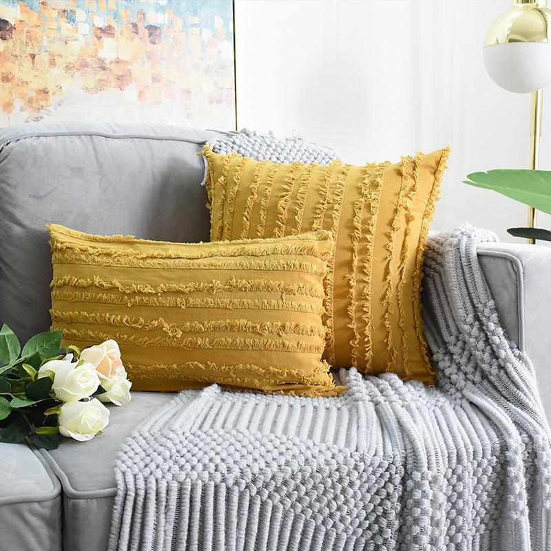 Корпус подушки 30x50см сплошной цвет кисточка полосатая подушка бытовые декоративные охватывает украшения дома