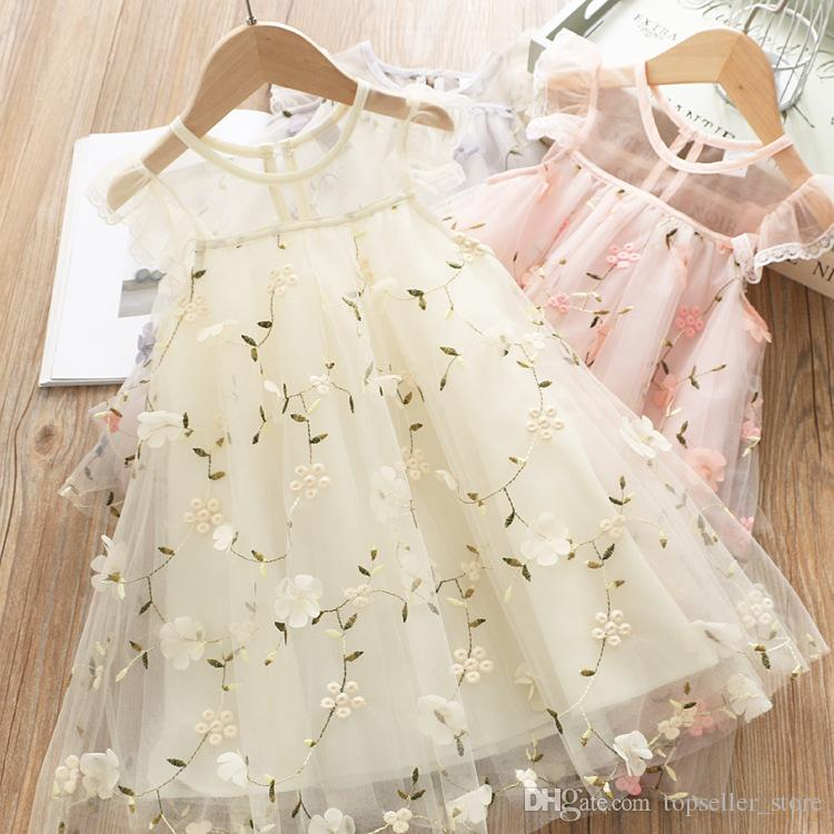 2019 Kids Clothes Girl Summer Dress Casual Floral Print Girls Baby Child Dresses for Girls Party Frock Tutu Princess Costume
