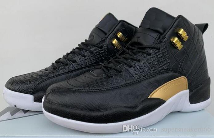 2020 12s Mens Basketball Shoes 12 Black