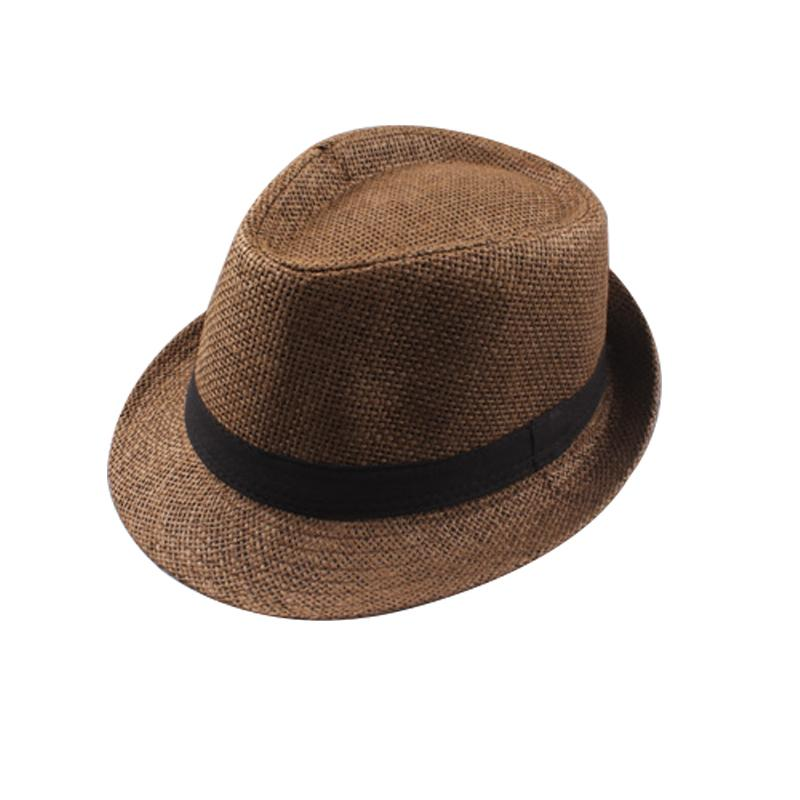 Fedora Baumwolle / Leinen 2018 Hüte Frauen-Mode weiche Stroh Männer Panama-Hüte Außen Stingy Brim Caps 3 8T4S