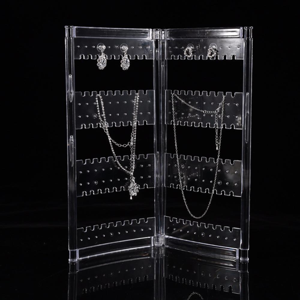 Jewelry Organizer Earring Necklace Storage Design Nice Jewelry Hanging Holder Rack Transparent Acrylics Jewelry Display Stand
