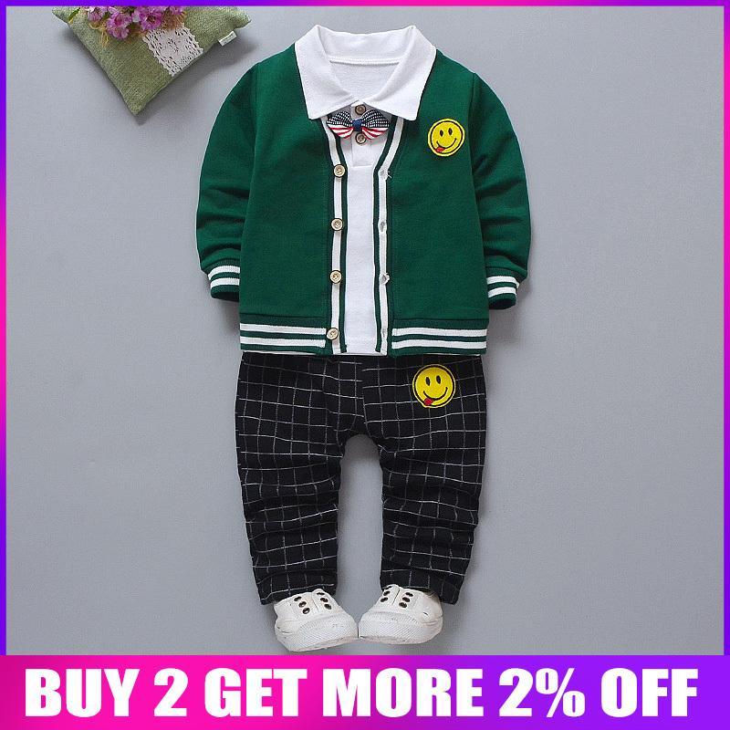 Bibicola primavera outono roupa dos miúdos set 3 pcs jaqueta + t-shirt + calças terno para meninos crianças roupas menino casual clothing algodão conjunto j190513