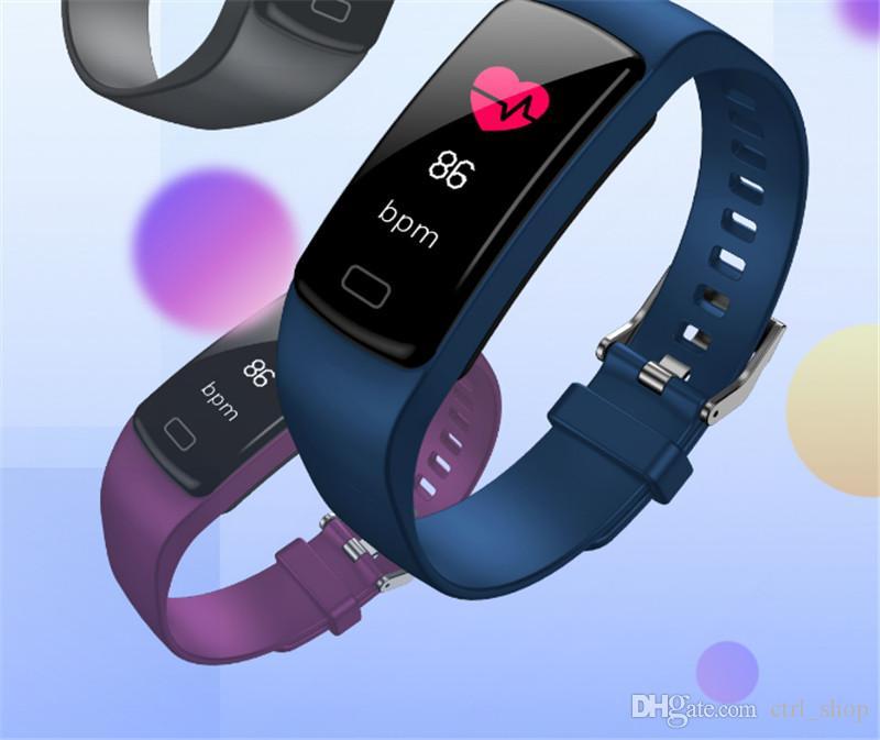 Y9 Actividad inteligente Rastreador reloj Banda Fitness Pulsera Monitor de ritmo cardíaco Pulseras de presión arterial para Smartphone Smartband