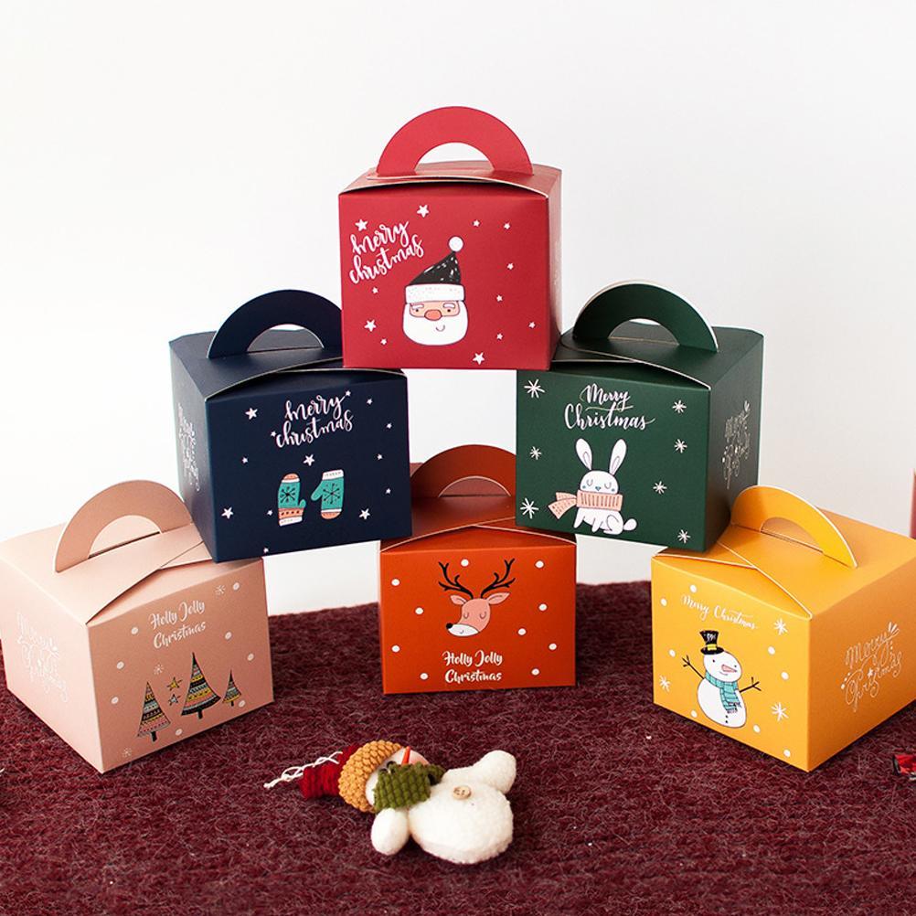 Noel Hediyeler için Noel arifesi Hediye Kutusu Noel Şimdiki Parti Favor Hediye Kutuları Geri sayım Takvim Kağıt Goody Çanta Kutular