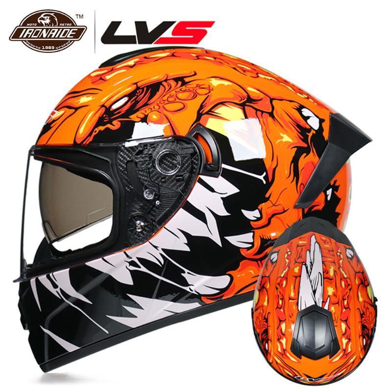 LVS NUEVO aprobado por el DOT casco de la motocicleta de motocross casco de la cara llena Casque Moto Casco Moto Crash Capacete