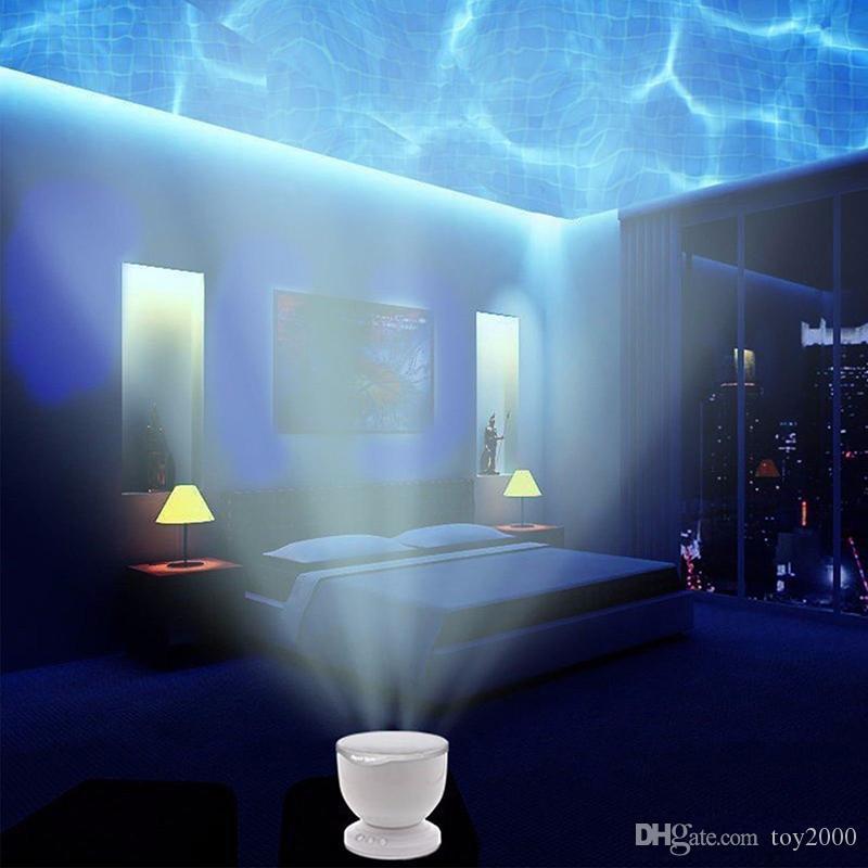 Бесплатная Доставка Новый Аврора Марстер СВЕТОДИОДНЫЙ Ночной Свет Проектор Океан Дарен Волны Проектор Лампа С Динамиком В Включении Розничной Упаковке светодиодные фонари