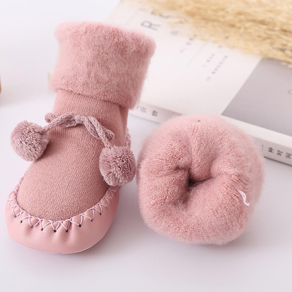 2019 Bebek Kapalı Çorap Ayakkabı Yenidoğan Bebek Çorap Kış Kalın Terry Pamuk Kız Bebek Çorap ile Kauçuk Taban Bebek Hayvan