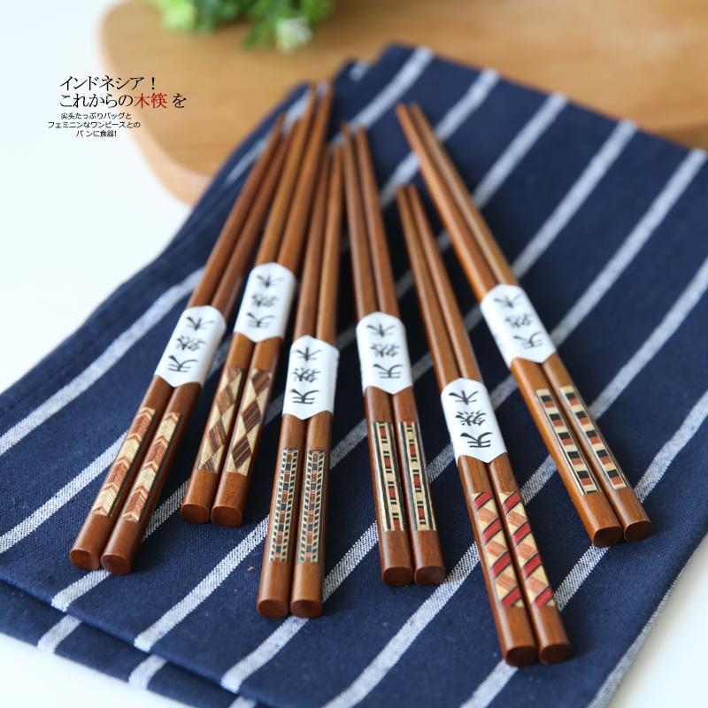 Janpanese Style Wood Chopsticks Creative Painting Crafted Tableware Sushi Natural Handmade Chopsticks Home Restaurant Supplier
