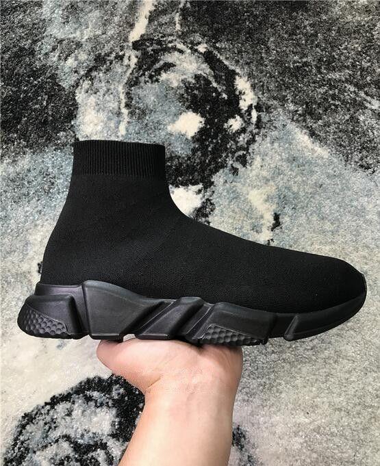 2019 New Air laine vitesse maille Entraîneur Chaussures de sport classique Marques à Hommes Femmes Top Sock Chaussures plates Mode de démarrage