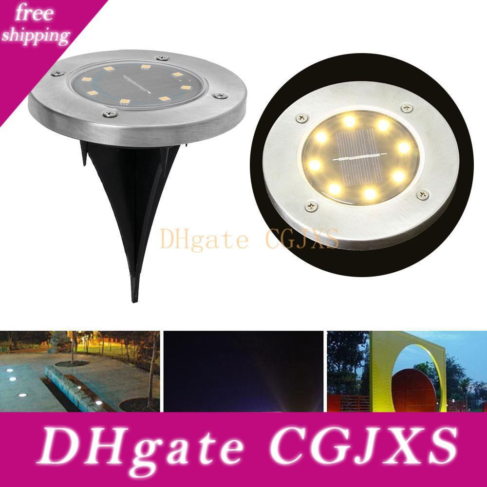 Underground Light 8 Led Solar Power Buried Light Under Ground Lamp Outdoor Path Way Garden Lawn Yard Outdoor Lighting