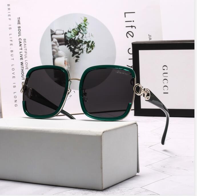 T8GUCCL cuadrado medio marco patas de madera de corte cristal simple lente estilo caliente de nuevo y popular diseñador de moda las gafas de sol UV400 gafas al aire libre