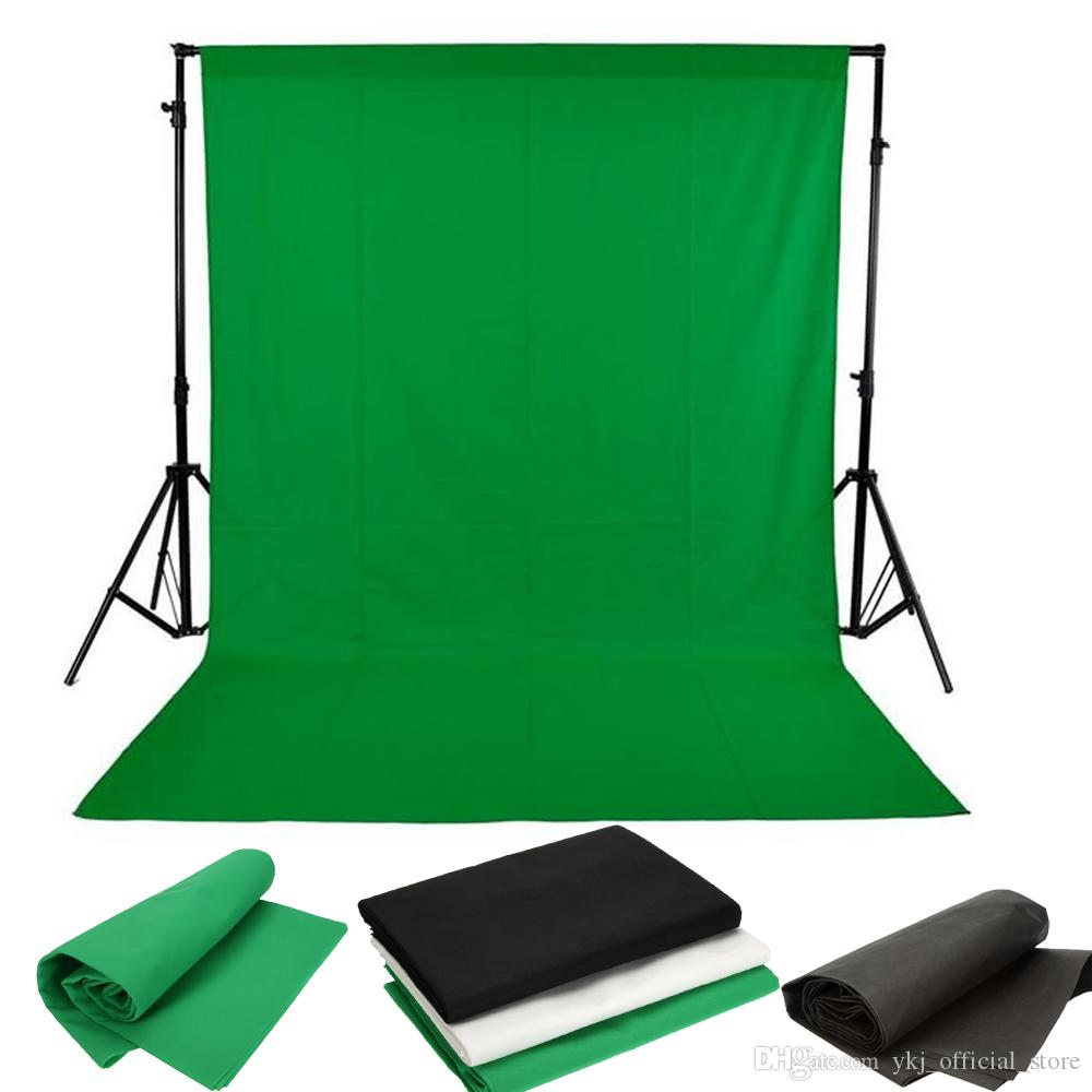 FONDO DE ESTUDIO FOTOGRAFÍA FONDO NO WOVEN COMPLETO CHROMAKEY PANTALLA 1.6x3M / 5 x 10 pies negro / blanco / verde para la iluminación de fotos de estudio